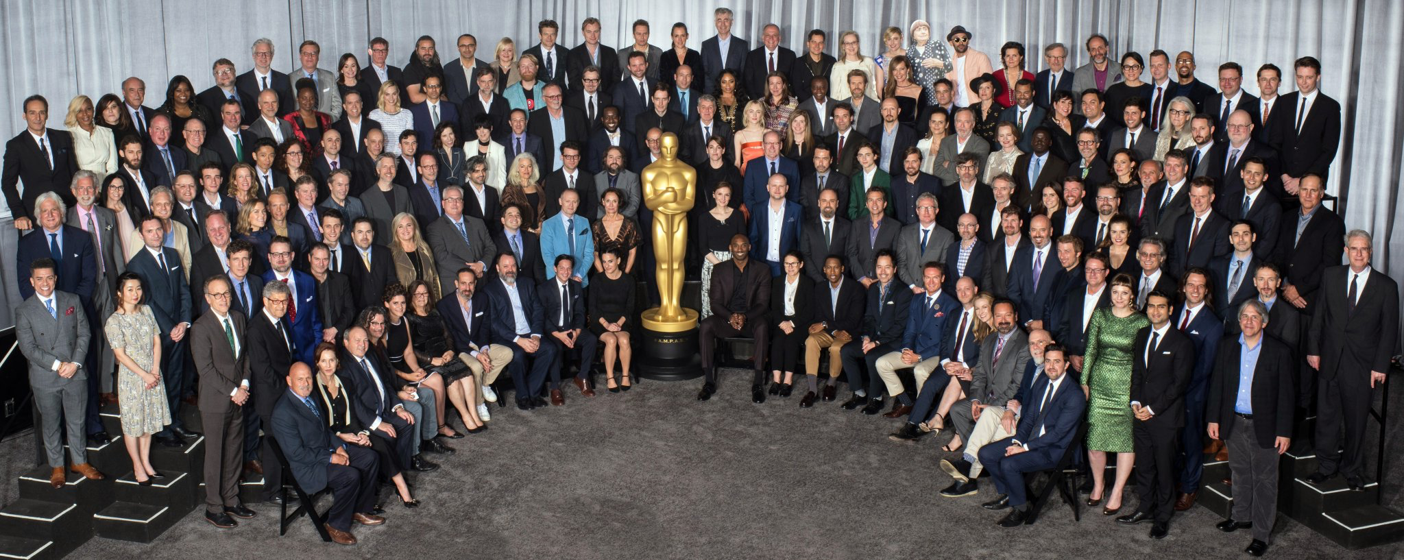 1b7f3dcbc Kobe Bryant got the All-Star treatment at the Oscars lunch on Monday —  getting the prime front row seat for the official group photo … despite the  fact he ...